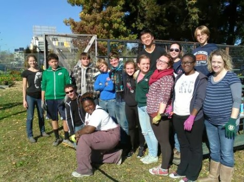 A church youth group visits ANV@ Tassafaronga!