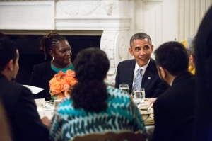 Executive Director Kelly Carlisle sits next to President Barack Obama at the White House!