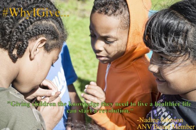 Why I Give to ANV  -Nadine Johnson ANV Board Member
